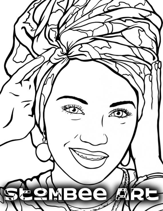 Adult Coloring Page and Printable PDF Coloring Page Of a ...