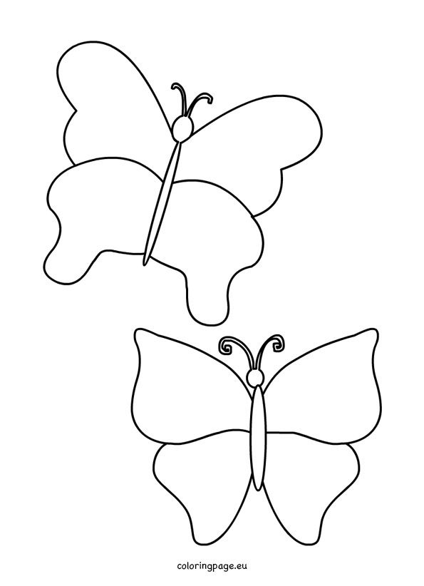 simple-butterfly-template   Projects to Try   Pinterest   Moldes
