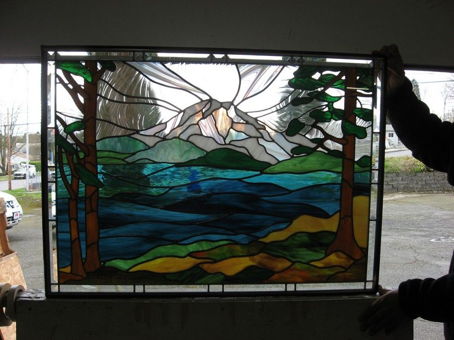 Mt Rainier   Stained Glass Projects   Pinterest   Glass and ...