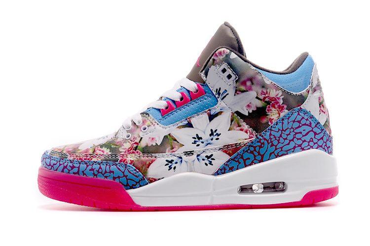 Nike Air Jordan 4 Rétro Chaussures Des Femmes Florales