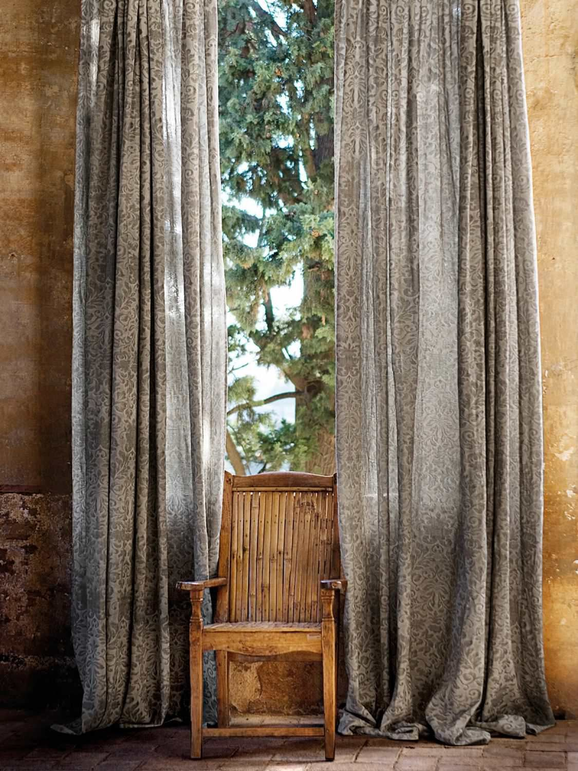 Patterned Sheer Curtain Fabric Forest Boj Lizzo