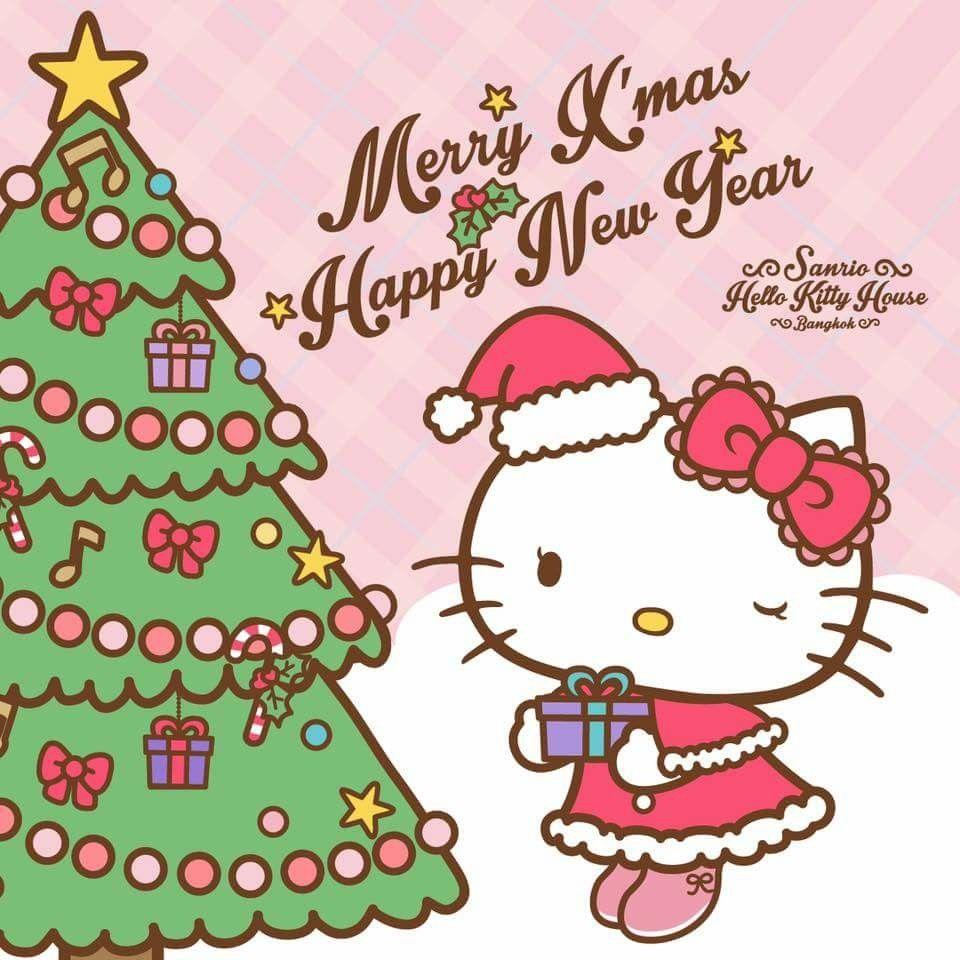 Hello Kitty Merry Christmas.Merry Xmas And Happy New Year Hello Kitty Hello Kitty