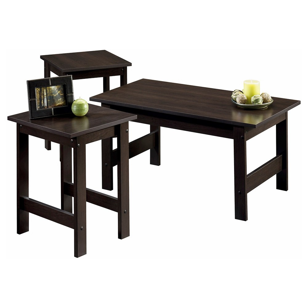 Beginnings 3 Piece Table Set - Cinnamon Cherry - Sauder