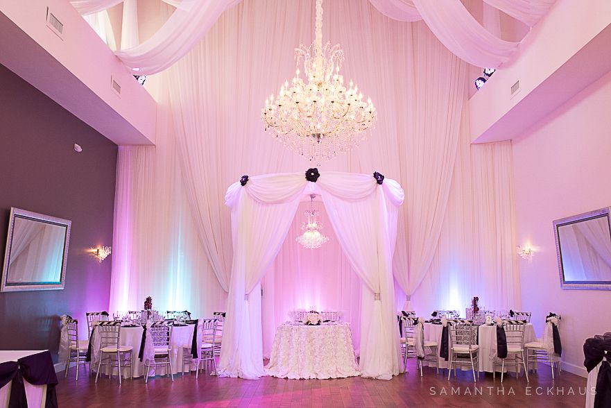 Crystal Ballroom At The Veranda In Metrowest By Orlando Wedding Photographer Corner House Photography Purple