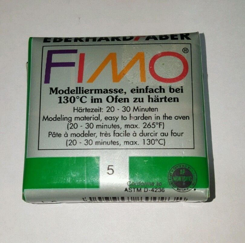 FIMO Modeling Material #5 , color green  by Eberhard Faber GMBH  #EberhardFaberGMBH
