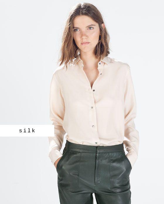 muchos estilos más nuevo mejor calificado guapo BLUSA SEDA zara | fashion en 2019 | Blusa tejana, Camisas ...