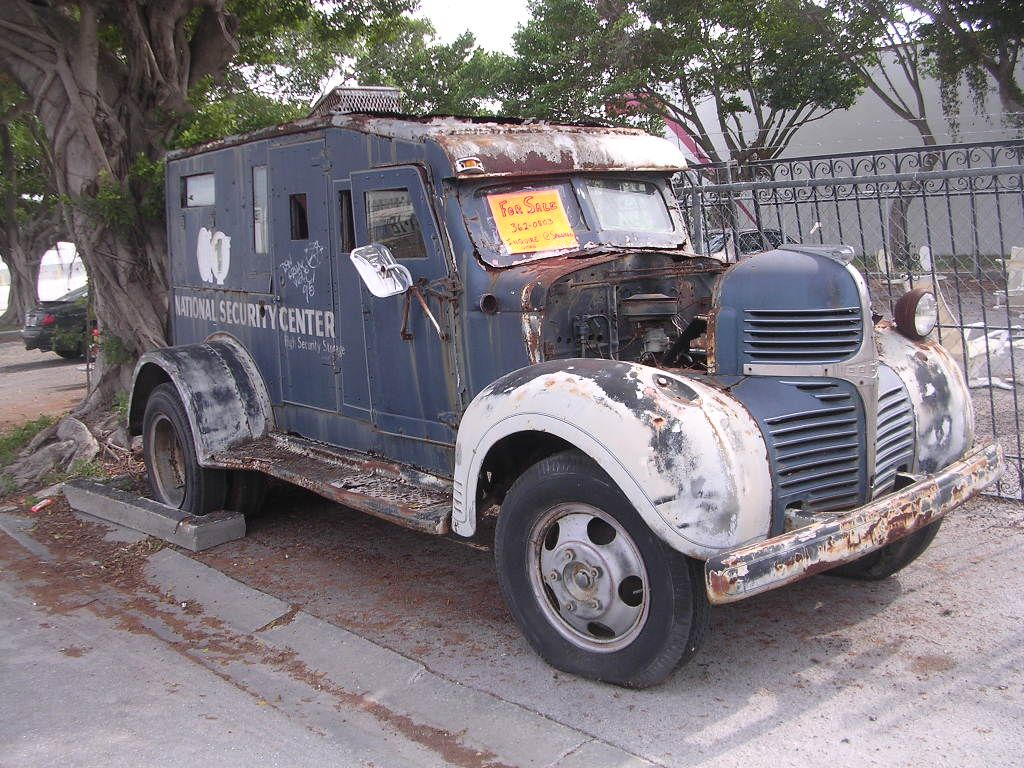A truly unique antique armored truck