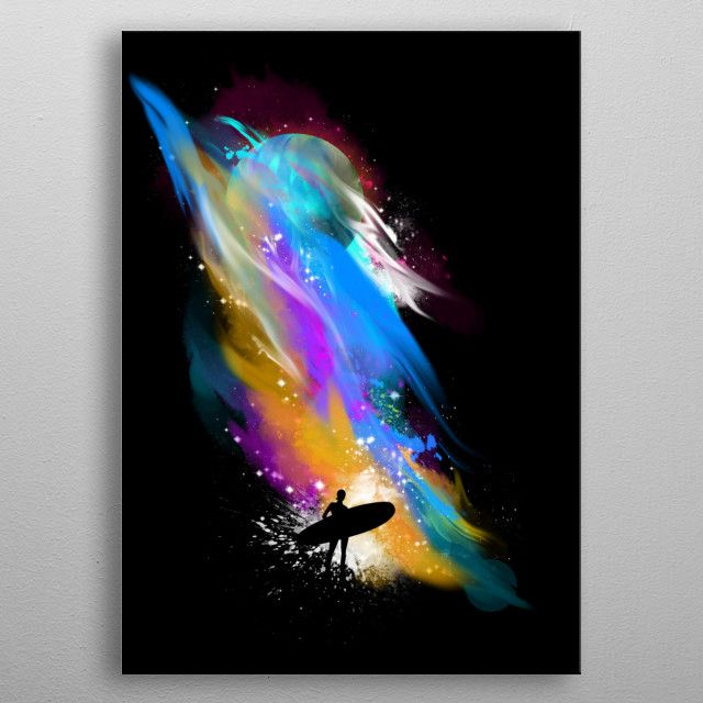 space surfin by Kharma Zero   metal posters - Displate   Displate thumbnail