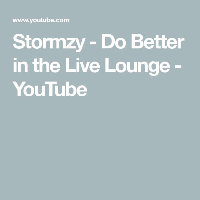 Stormzy Do Better In The Live Lounge Youtube Bbc Radio Bbc Radio 1 Wellness