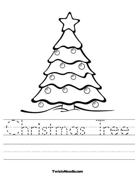 Christmas Tree Worksheet Christmas Worksheets Christmas Handwriting Holiday Worksheets