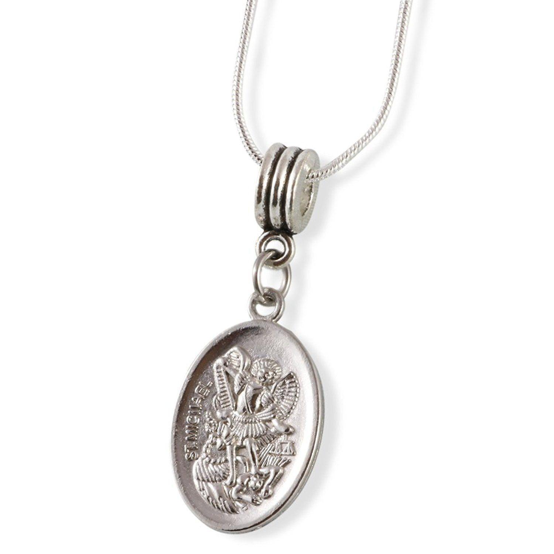 Saint michael guardian angel fancy bangle trend jewelry
