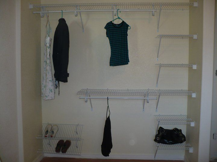 Now she has a place for her clothes and shoes!