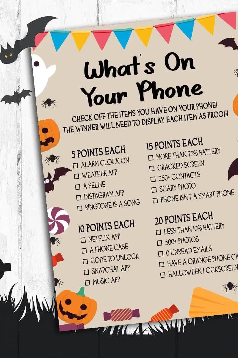 Halloween Guessing Games For Adults