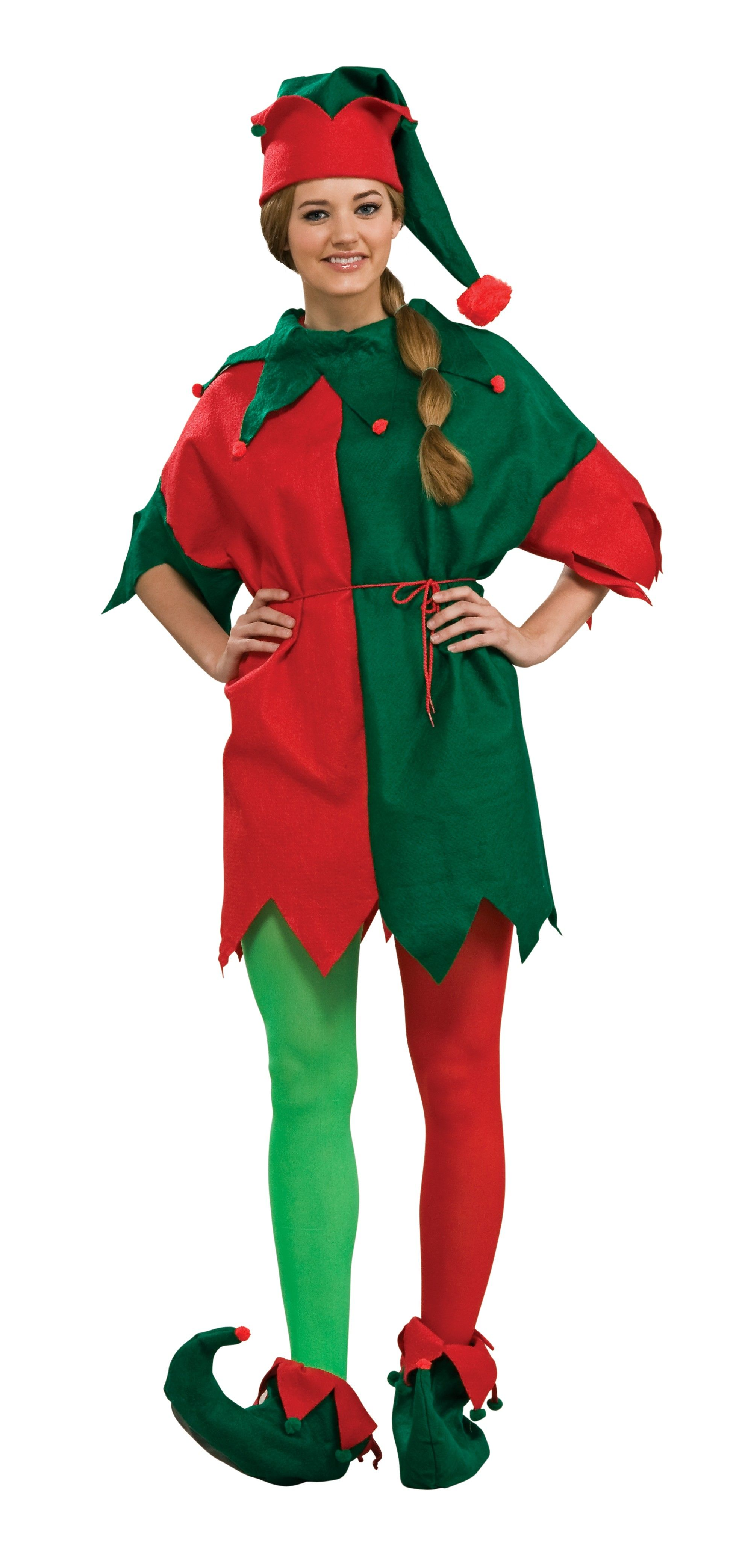 Elf Tunic Adult This elf tunic includes a red and green