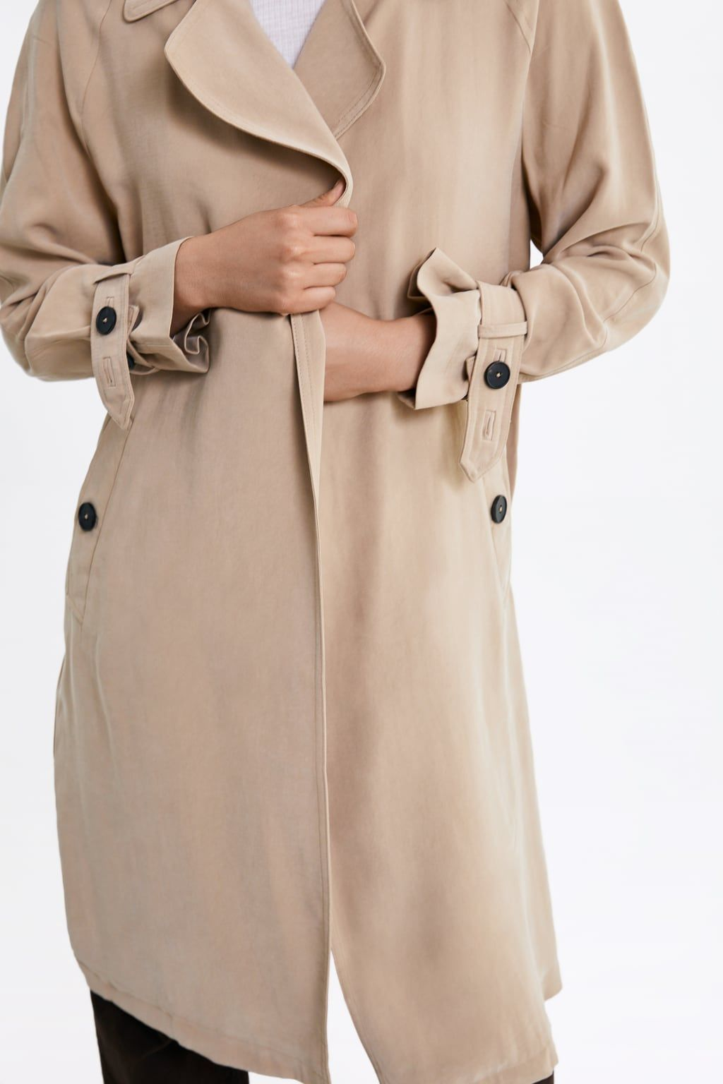 bd99b6ef24 Flowy trench coat with pockets in 2019 | want | Coat, Coats for ...