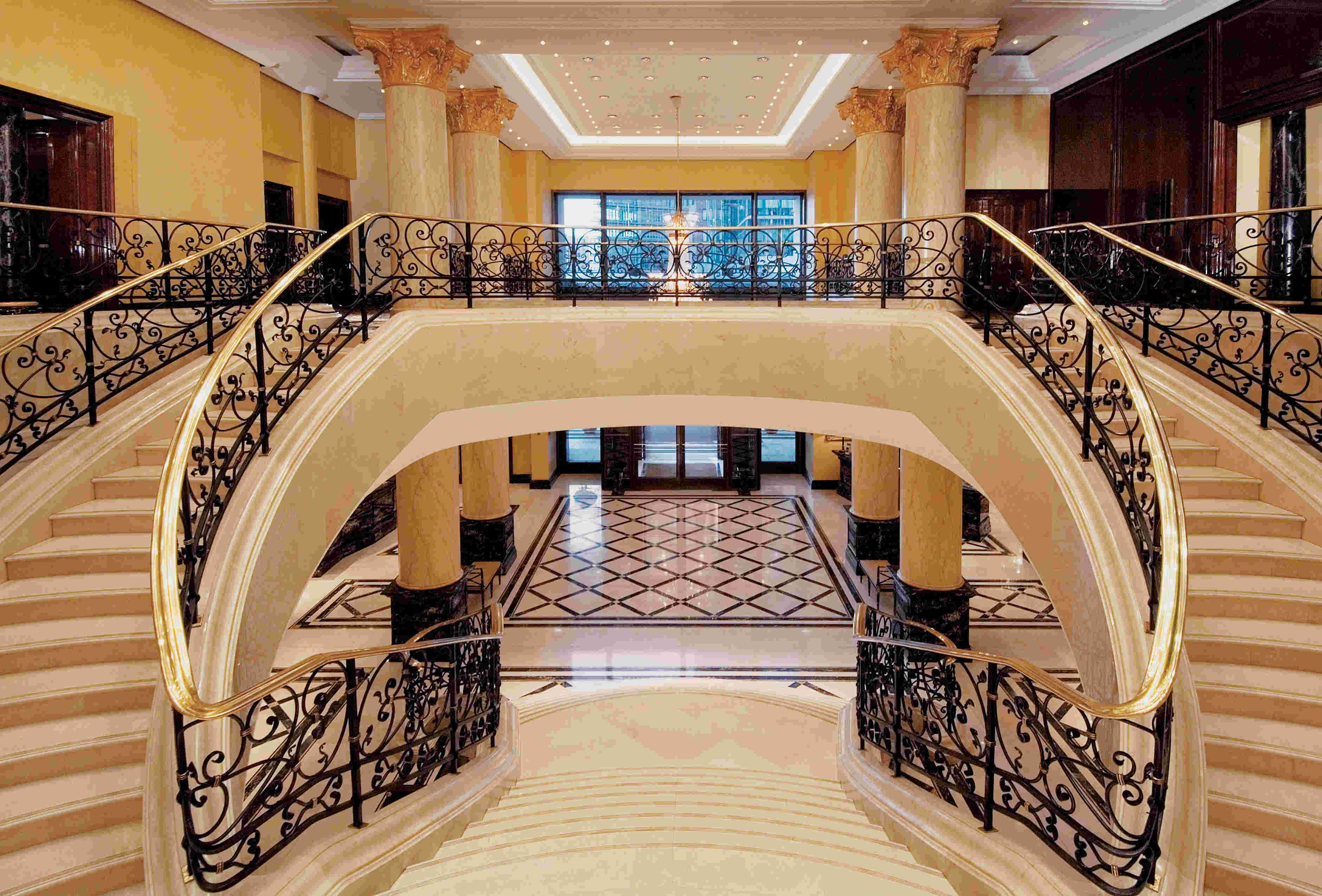 Incridible Luxury Staircase Design With Handcrafted Iron