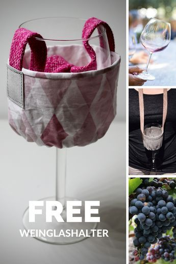 *Wegbegleiter für Deine nächste Weinwanderung - Freebook Weinglashalter*