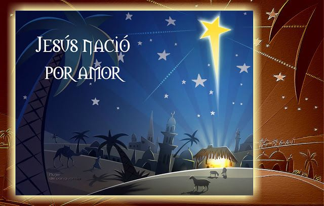 Jes s naci por amor fondo de escritorio tarjetas con - Tarjetas navidenas cristianas ...