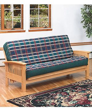 Curved top Mission style futon frame Futon mattress covers
