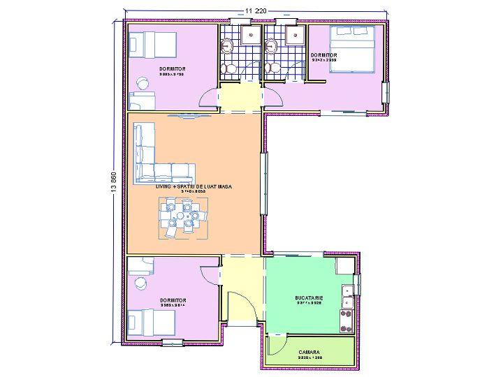 planul casei moderne MAISONS CONTEMPORAINES ECOO Pinterest