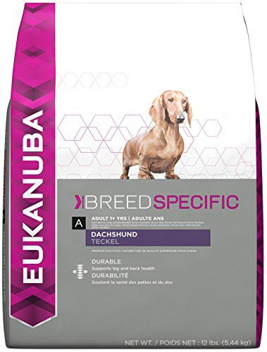 Eukanuba Breed Specific Adult Dachshund Dog Food 10 Pounds