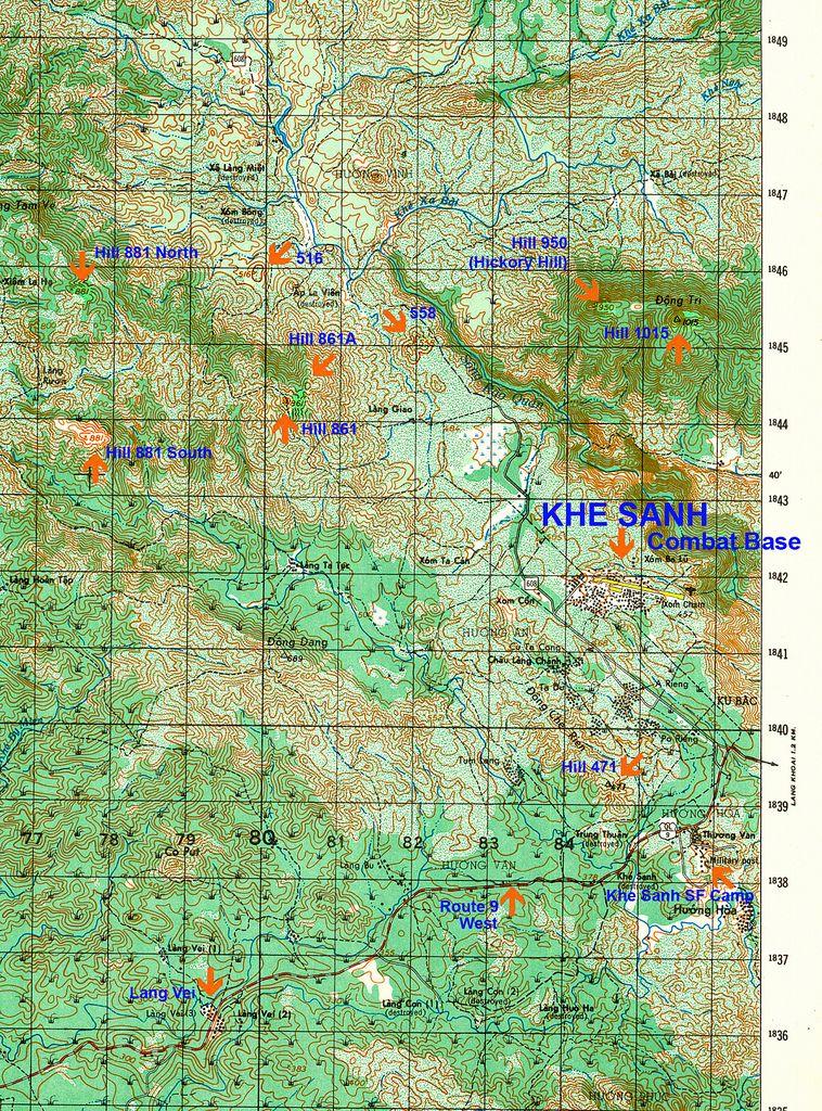 Lai Khe Vietnam Map.6342 3 Map Of Khe Sanh Area History Pinterest Vietnam War