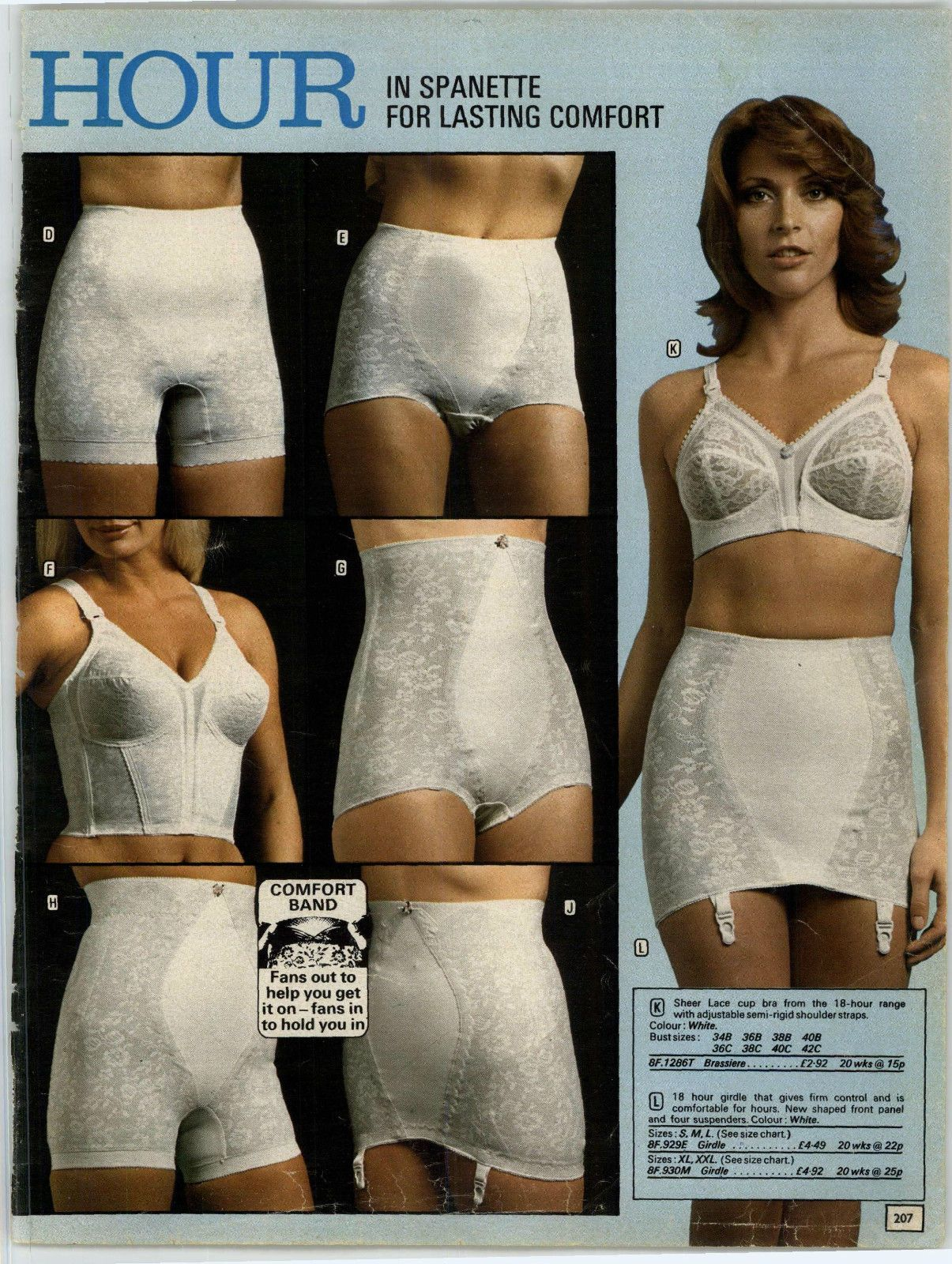 fed88795cb2 The entire selection of Playtex 18 hour girdles and bras from 1975. The  ones my mom wore.