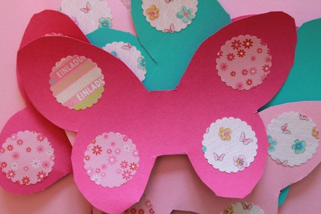 DIY Schmetterling Geburtstagseinladung | Einladungen Basteln |  Mädchengeburtstag | Waseigenes.com