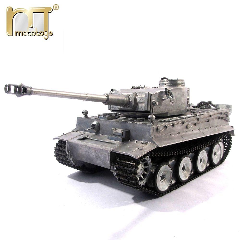 Henglong 1//16 Gray 6.0 Plastic German Tiger I RTR RC Tank 3818 Steel Gearbox