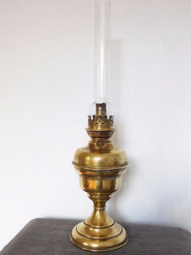 lampe a petrole ancienne en cuivre unis