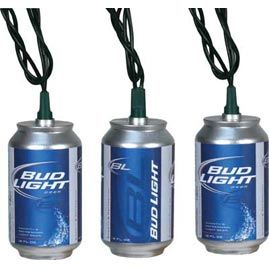 Bud Light Can LED Party String Lights - For our Redneck patio :) Survival Gear, Knifes, Guns ...