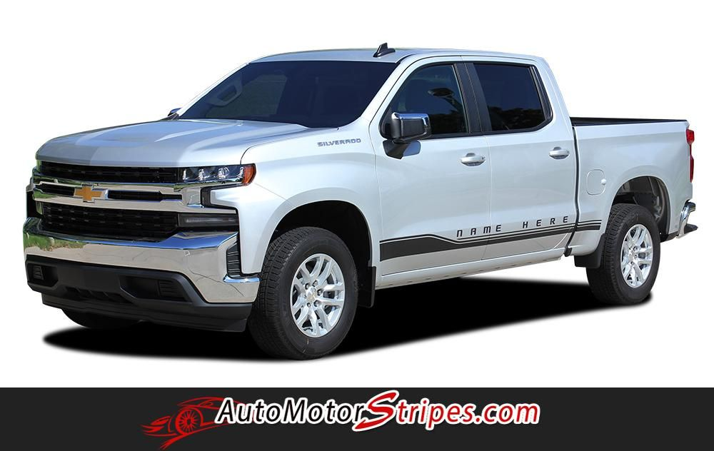 2019 2020 Chevy Silverado Stripes Rocker One Decals Lower Door Rocker Panel 3m Vinyl Graphics Kit Chevy Trucks Accessories Chevy Trucks Chevy Silverado