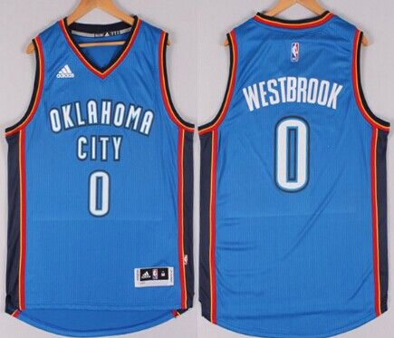 Oklahoma City Thunder  0 Russell Westbrook Revolution 30 Swingman 2014 New  Blue Jersey 45056a074
