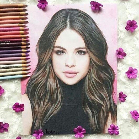 Selena gomez drawing decor pinterest sels paon et - Selena gomez dessin ...