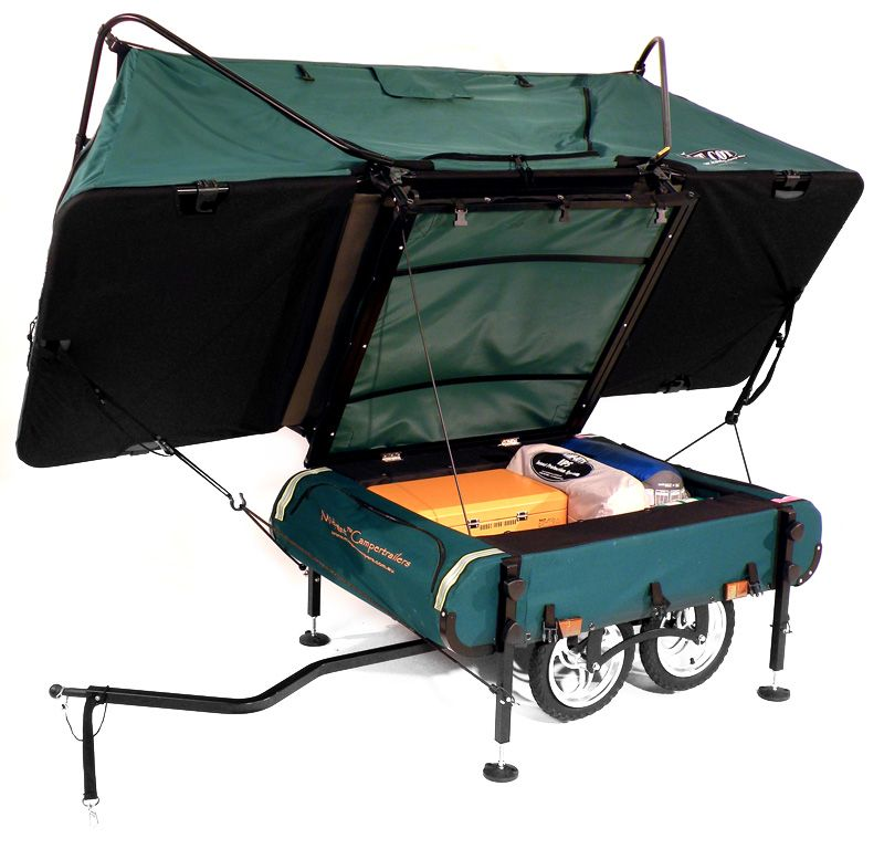 The worldu0027s smallest pop up c&er can be hauled by a single person on the back · Bike TrailersTrailer TentBicycle ...  sc 1 st  Pinterest & The worldu0027s smallest pop up camper can be hauled by a single ...