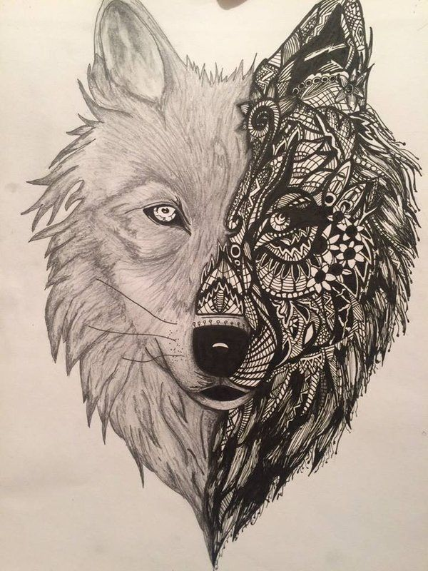 Abstract Wolf Tattoo Google Search Wolf Tattoo Design Animal Tattoos Wolf Tattoos