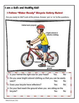 Bicycle Safety Ready For Riding Bicycle Safety Safety Rules