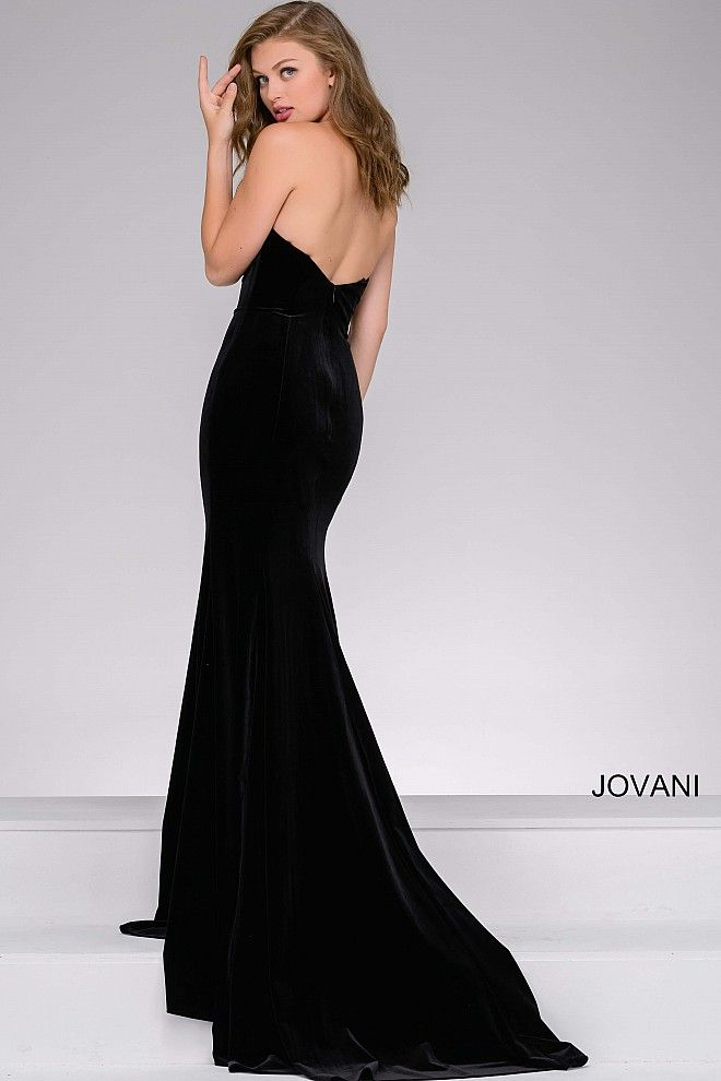 5c3297ae985 Black Strapless Fitted Prom and Wedding Guest Dress 40786 in 2019 ...