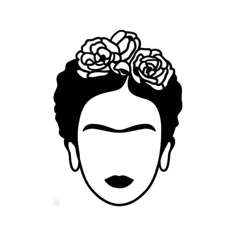 Frida Kahlo Decal Etsy Frida Kahlo Drawing Outline Drawings Frida Kahlo Art