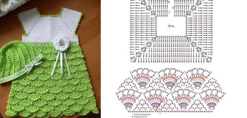 Crochet. Patrón de vestido para niña. http://www.imagui.com/a ...