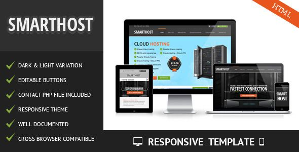 Smart Host is a clean, modern web hosting and server businesses theme. This theme also can be used for corporate, business and company sites.