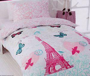 PARIS Pink Eiffel Tower Single/Twin Size Quilt Cover Set New ... : eiffel tower quilt cover - Adamdwight.com