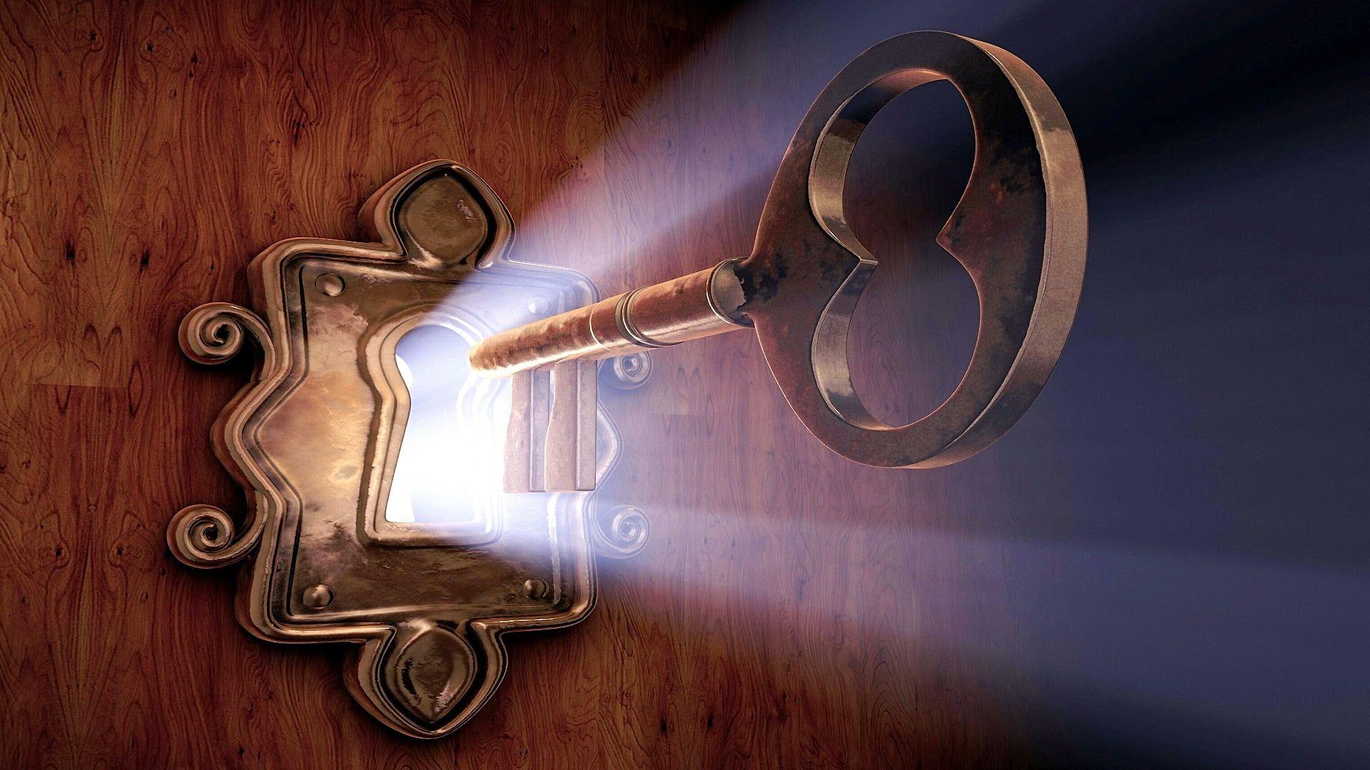 Photo of #light #key #metal #door #lock #illustration
