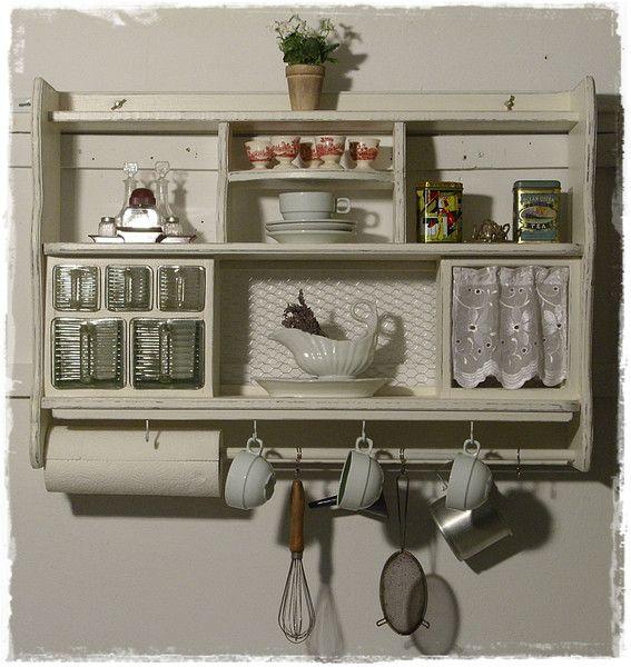 Wandregal, Küchenregal, Shabby Shabby - regale für küche