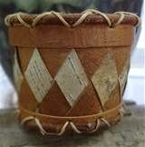 Alaskan Native Handmade Woven Birch Bark Basket