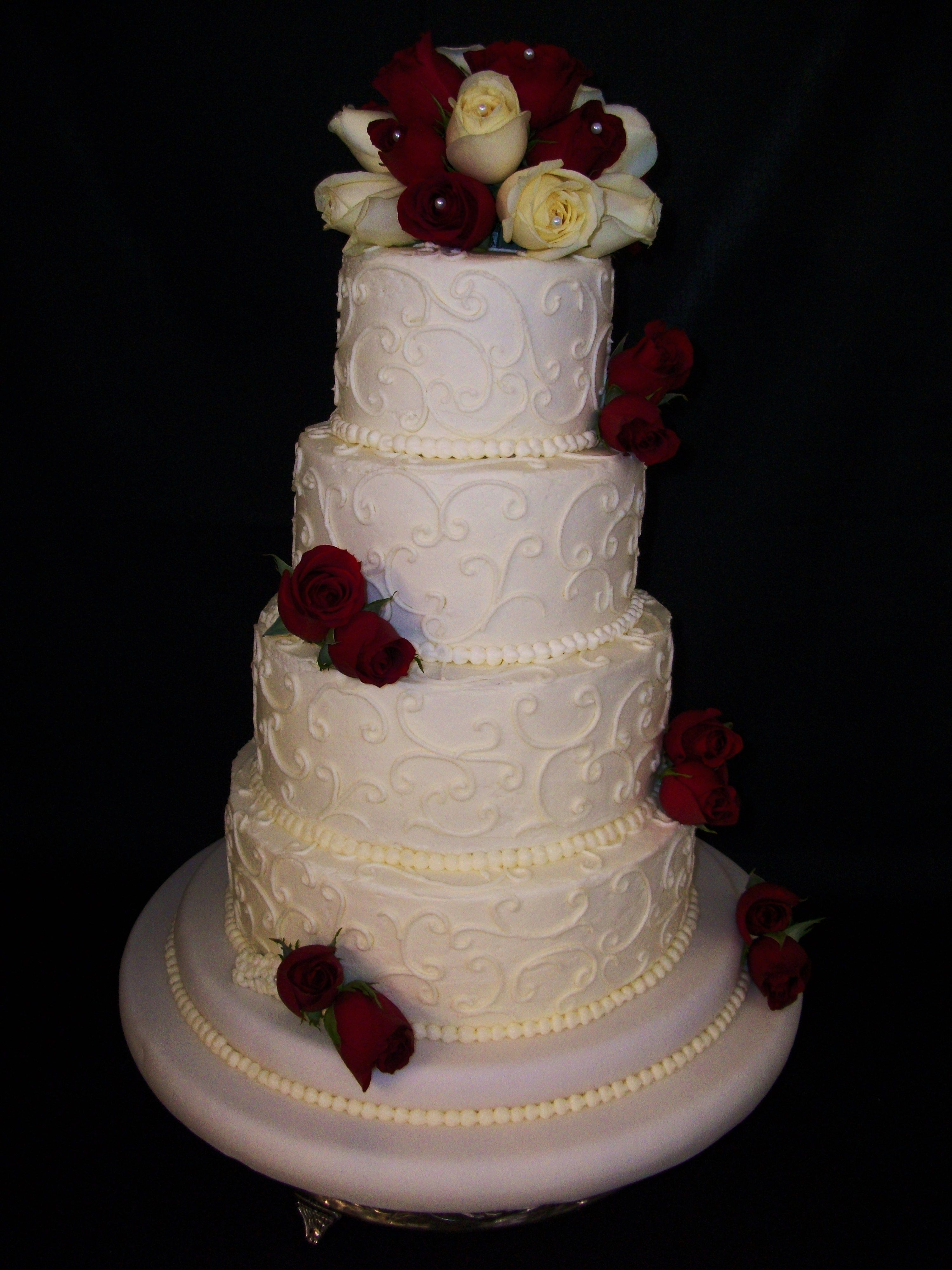 4 tier wedding cakes pictures 4 tier wedding cake with roses our big day 10407