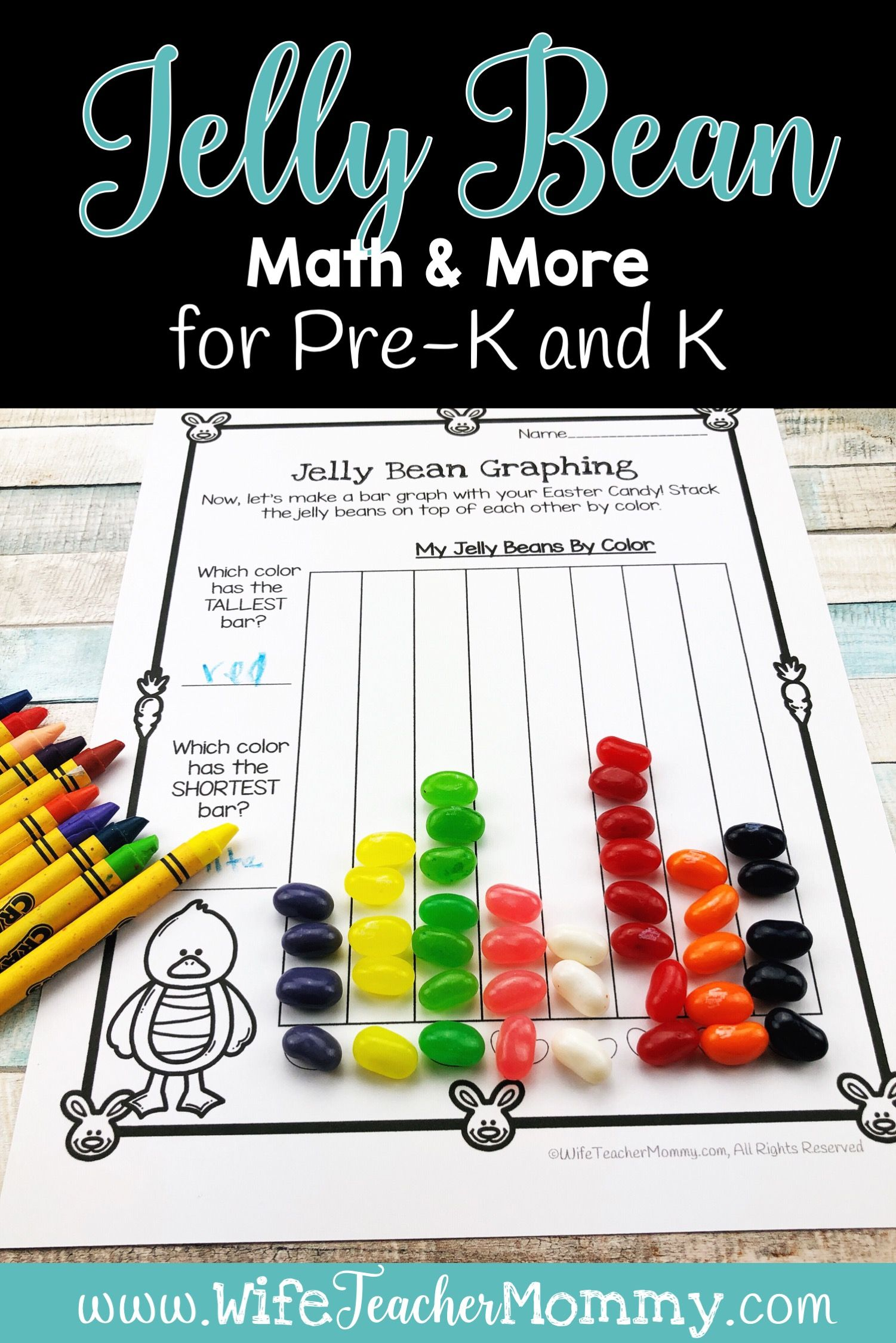Easter Jelly Bean Math Amp More For Pre K And Kindergarten