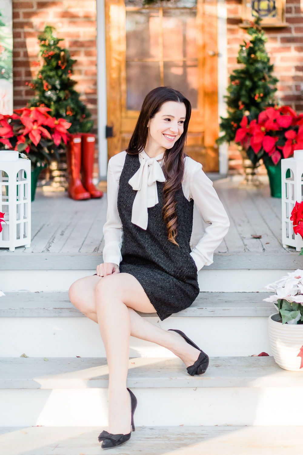 Trend To Try The Shirt Under Dress Look Diary Of A Debutante Preppy Holiday Outfit Shirt Under Dress Holiday Outfits [ 1500 x 1000 Pixel ]