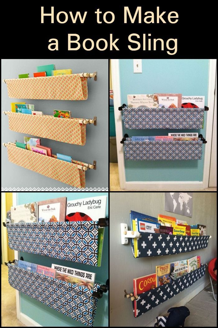 How To Make A Book Sling Kids Book Storage Book Sling