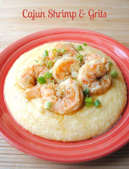 Cajun Shrimp & Grits | Cajun shrimp and grits, Spicy and L'wren scott